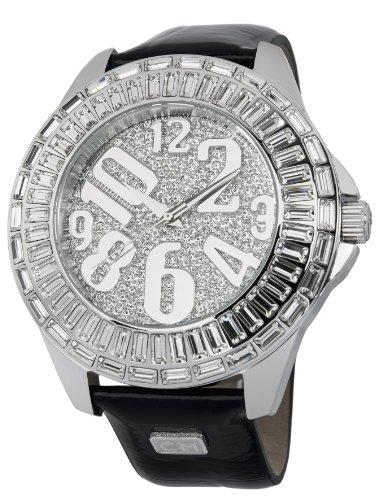 Carlo Monti Andria CMY01-112 - Reloj analógico de cuarzo para mujer, correa de cuero color negro