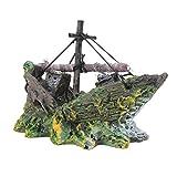 Namgiy acquario Decor paesaggio decorazione ornamento pirata nave paesaggio for home Garden, C X 13 X 5 X 10cm, D