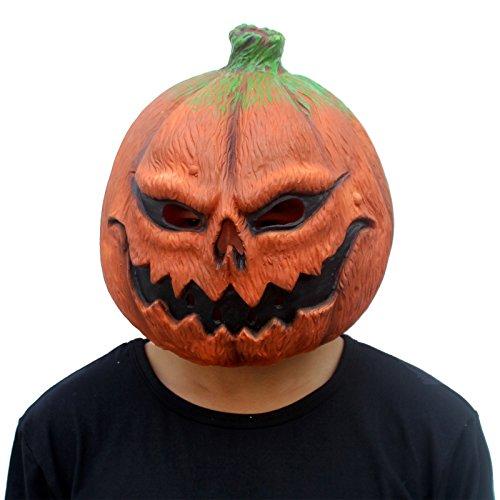 CreepyParty Halloween Dekoration Kostüm Party Latex Kopfmasken - Kürbis Kopf Halloween Kostüm