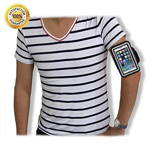 mit Schlüsselhalter für iPhone 5 / 5S / 5C Serie iPod Touch 5. Generation, modisch, Schwarz Sportarmband mit Klettverschluss, wasserabweisend, waschbar, lebenslange Lebensdauer ()