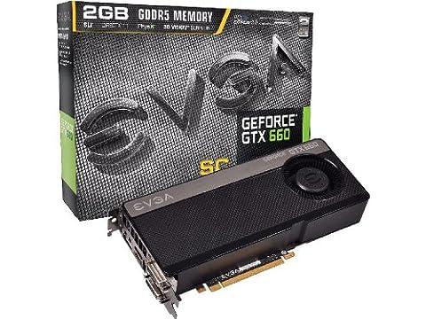 EVGA NVIDIA GTX 660 SC Grafikkarte (PCI-e, 2GB GDDR5 Speicher, 2x DVI, mini-HDMI, Displayport, 1 GPU)