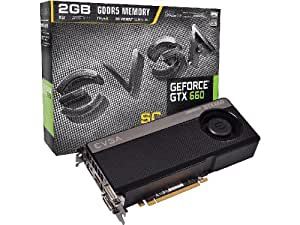 EVGA Carte graphique Nvidia Geforce GTX660 SC 2Go 2048Mo 1033Mhz PCI-Express 16x