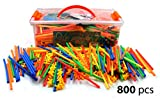LARGE 800 Piece Straws Builders Construction Building Toy - Giant Pack with Special Connectors by Playlearn by Playlearn