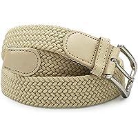 GLOMY cintura elastica intrecciata per Uomo e Donna Belt in colore unico o doppi colori Unisex