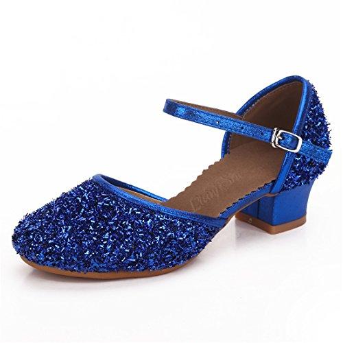 Cool&D Mädchen Tanzschuhe Prinzessin Schuhe Kinder Latein Schuhe mit Weiche Sohlen 28-38