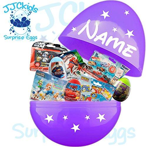JJCkids GIANT Jumbo gefüllt Mega Überraschung Ei 35,6cm–Star Wars, Spider Man, Disney, TMNT & mehr