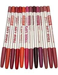 Hosaire 12 PCS/Lot Crayon à lèvres Crayon outils étanche Lip Liner maquillage de longue durée