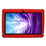 Transwon Textured Kids Friendly Silicone Skin Case for JYJ 7 Inch Android Google Tablet PC, Dragon Touch Y88X Plus 7 Inch, BTC Flame 7 Inch Tablet, JINYJIA E-SHOP 7 Inch, NEW ΠCert UK QUADCORE OPERO 7, Haehne MiniPad 7, iRULU eXpro X1S 7, iROLA DX758 Pro 7, Tabtronics Kapow 7'' Kids Children Android Tablet, Arespark 7 Inch T716, Adspec AdTab 7 Lite, Leliktec 7', ssiony 7 Inch A33 and More - Red