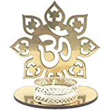 "Satyam Kraft ( 1 Pcs ) ""OM"" Shadow Diya T-light Candle Holder Stand For Pooja And Decorative"