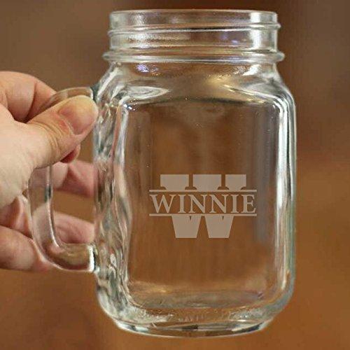 Custom Name auf Mason Jar Glas Becher mit Henkel Personalisierte Mason Jar Cups 16oz