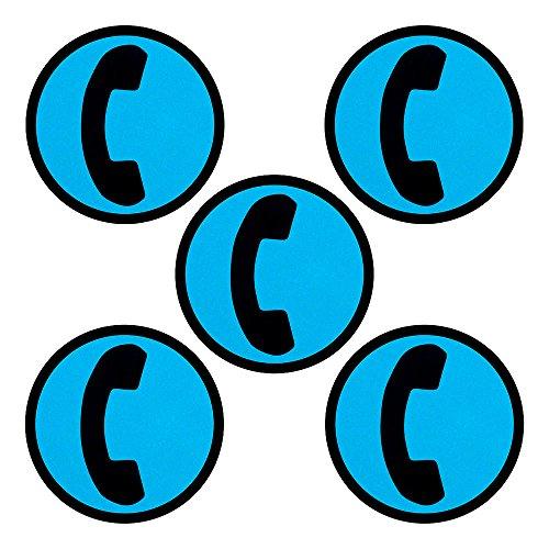 5 Telefon-Magnete für Magnettafeln, Kühlschränke, Plantafeln und Whiteboards. Emoji Magnet