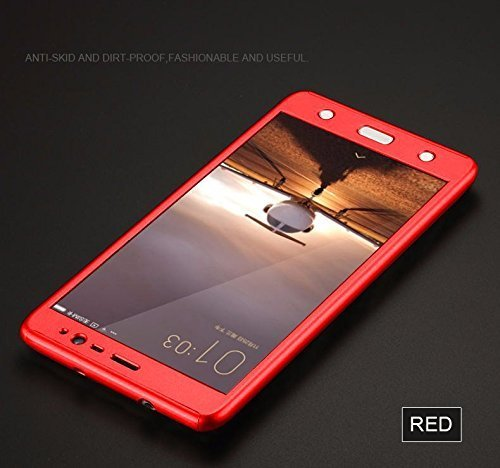 "Mobiclonics All Sides Protection ""360 Degree"" Sleek Rubberised Matte Hard Case Back Cover for Vivo V5(Red)"