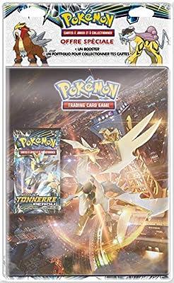 Pokémon- Soleil & Lune Soleil et Lune-Tonnerre Perdu (SL08) -Pack Cahier Range-Cartes + Booster (modèle aléatoire), POB09SL08