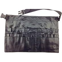 Pixnor Compongono il grembiule PU cosmetici trucco pennelli strumenti Borsa cintura Strap titolare (Titolare Di Pennelli Di Trucco)