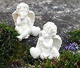 Engel mit Herz Glücksengel / Schutzengel mit Herzen (beide im Set)