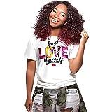 ljradj banxiu Frauen-T-Shirt mit großem Brusttierdruck 3 M