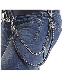 Damen Mode Körper Schmuck Gürtelgeschirr aus Leder Strumpfhalter 2 Stk