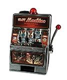 Out of the blue Slot Machine con Suono & Luce (C) Salvadanio, Nero/Rosso/Metallico, 33x29.5x42 cm