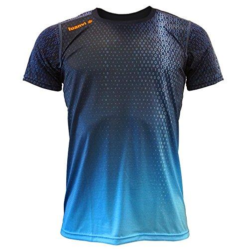 Luanvi Edición Limitada Camiseta técnica Binary, Hombre, Azul, L (52-70cm)