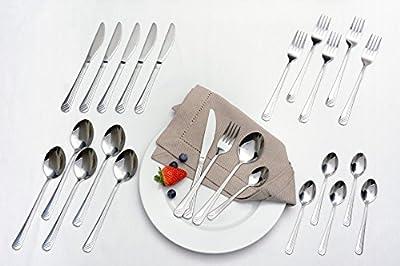 GRÄWE Besteck-Set für 6 Personen, 24-teilig - Essbesteck aus Edelstahl, rostfrei, nickelfrei, Serie LÜBECK