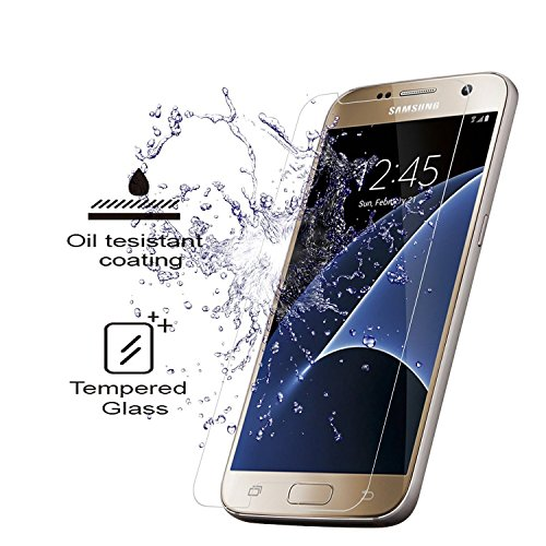 [3 Stück] Samsung Galaxy S7 Panzerglas Schutzfolie, Quiusky Displayschutzfolie für Galaxy S7 Panzerfolie Displayschutz Gehärtetem Glass 9H Härtegrad - 2
