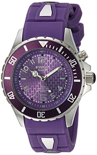 KYBOE! 'Power' Quartz Stainless Steel and Silicone Casual Watch, Color:Purple (Model: KY.40-040.15)