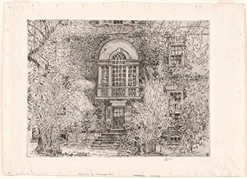 Das Museum Outlet - Spring in Annapolis (Chase House Garten), 1929, gespannte Leinwand Galerie verpackt. 29,7 x 41,9 cm