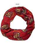 Meroncourt Damen Schal Harry Potter All-Over Gryffindor House Badge Crest Viscose Scarf, rot, Einheitsgröße
