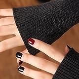 GAYY Femme étudiante hiver gants demi doigt manchette bras manches épaissies gants,Noir 50Cm,F