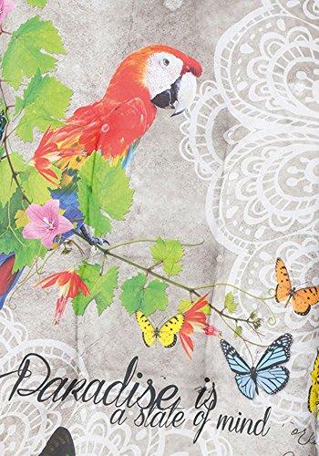 Gartenliegenauflage - Paradise grau