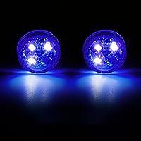 SELUXU 2x Universal Car Door LED Opened Warning Flash Light Kit Wireless Anti-collid