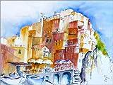 Posterlounge Holzbild 130 x 100 cm: Manarolo- Cinque Terre von Brigitte Dürr