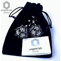 Orecchini gioielli di carta - CRYSTALLIZED™ - SWAROVSKI Elements - Fatti a mano - ideali per la festa della mamma - Colore nero