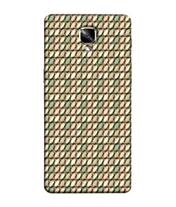 FUSON Designer Back Case Cover for OnePlus 3 :: OnePlus Three :: One Plus 3 (Seamless Pattern Blue Design Drawing )