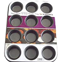 Prima Muffin Pan, Carbon, Black, 13.94 x 10.94 x 1.26 cm