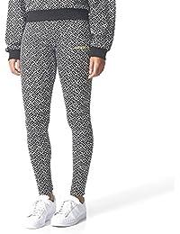 a21f60bdafc adidas Allover Print Leggings Leggings Black-White