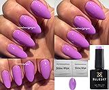 BLUESKY A58Pastell Lila Staub lila Lavendel Nagellack-Gel UV-LED-Soak Off 10ml plus 2LuvliNail Shine Tücher