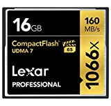 Lexar Professional 16GB 1066x Speed (160MB/s) UDMA 7 CompactFlash Memory Card