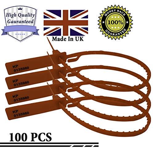 Etichette di sicurezza a strappo di alta qualità, fabbricate nel Regno Unito, fascette di sicurezza numerate, sigillanti anti-manomissione, etichette di sicurezza, fascette in plastica