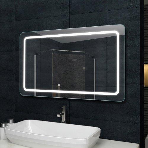 Lux-aqua Design Lichtspiegel Badezimmerspiegel LED Beleuchtung mit ...