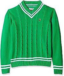 US Polo Association Boys Sweatshirt (SW5145_Green_11 - 12 years)