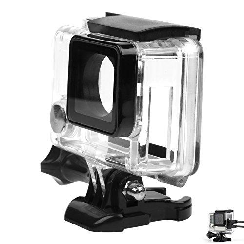 Descripción:  1. Tamaño del producto: 7,5cm x 3,8cm x 7,5cm;Material: plástico+metal, se aplica a la GoPro 3+/4 cámara 2. La caja protectora con el lado lateral perforado de la cámara GoPro 3+/4 permite conectar el cable externo de datos para una car...