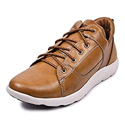 Andrew Scott Mens Tan Leather Sneaker
