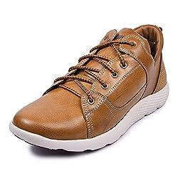 Andrew Scott Mens Tan Leather Sneaker