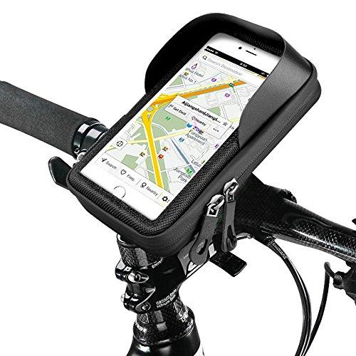 Fahrrad Handyhalterung,Topist Wasserdicht Handyhalter Fahrrad Tasche Fahrradlenkertasche für iPhone 6s Plus/6 Plus/Samsung s7 edge andere bis zu 5,5 Zoll Smartphone Test