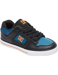 DC Kids' Pure Elastic Skate Shoe, Black, 12 M US Little Kid
