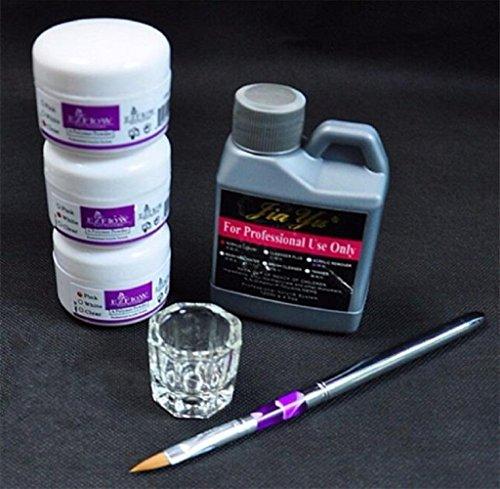 Tongshi Simplemente pro del arte del clavo Kits de polvo líquido de acrílico de la pluma Däppen Herramientas plato