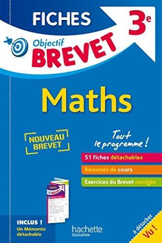 Objectif Brevet 3e - Fiches Dtachables Maths - Nouveau programme 2016 by Nicolas CLAMART (2016-08-24)