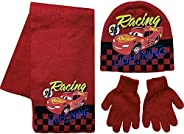 Disney Cars Lightning McQueen - Set di sciarpa e guanti in acrilico