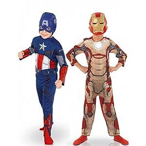 Rubies Pack disfraz niño Capitán América? e Iron Man? Los Vengadores? caja - De 3 a 4 años